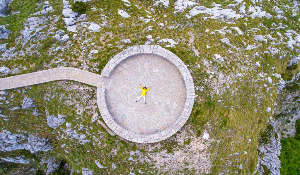 Нацпарк Ловчен Черногория сверху