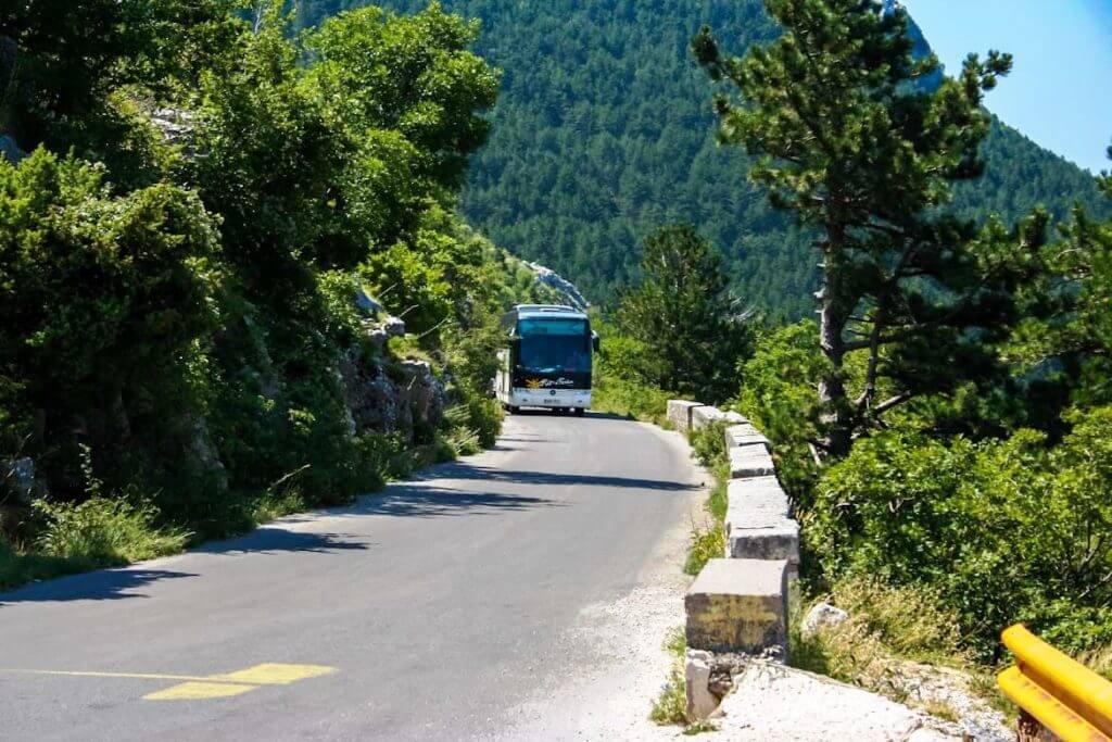 автобусные маршруты Серпантин Котор