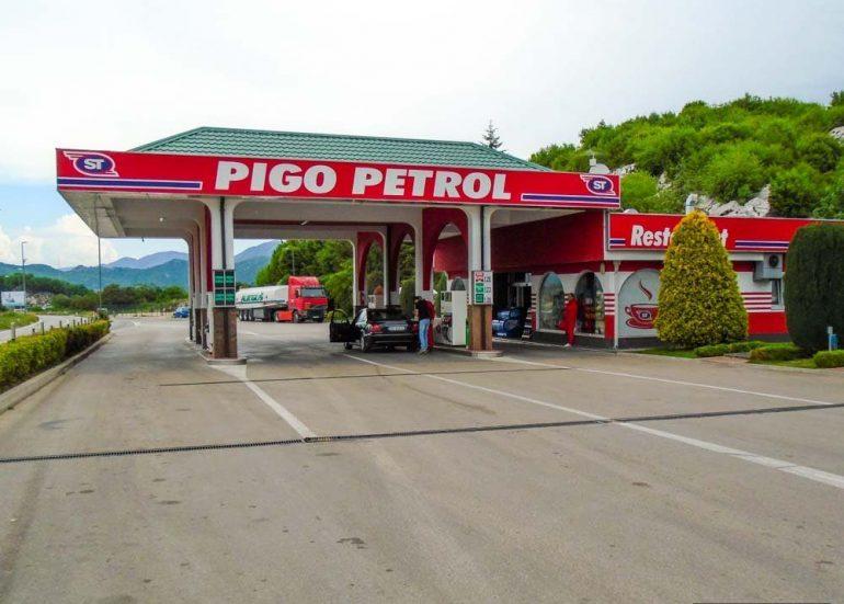 Заправочные станции в Черногории