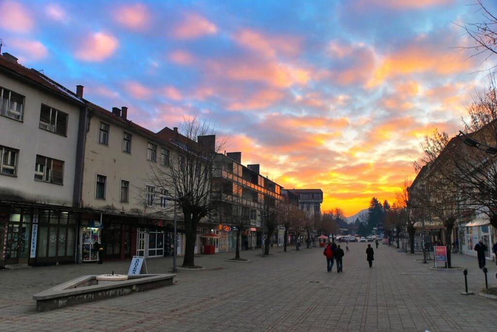 закат в Беране Черногория