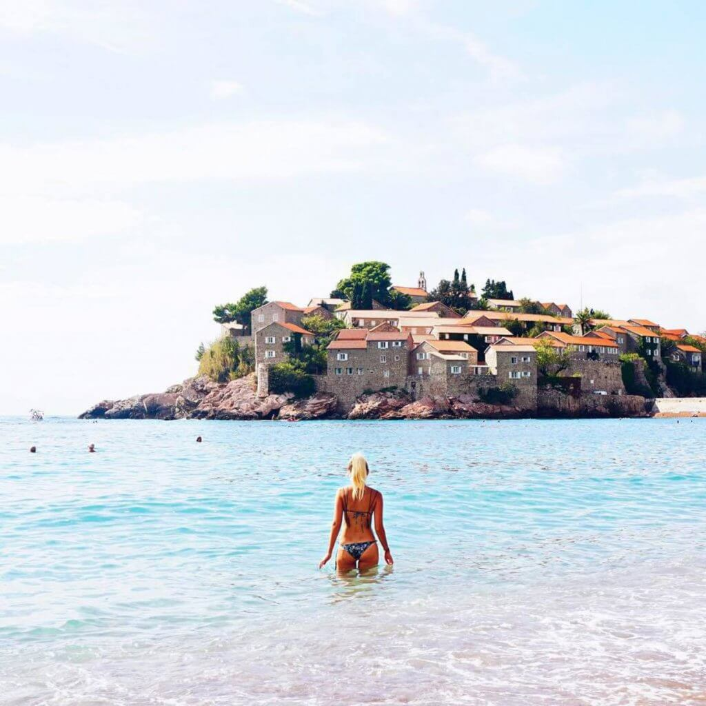 Пляж Святой Стефан Черногория