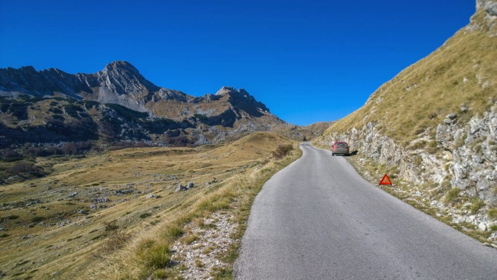 Дорога через национальный парк Дурмитор