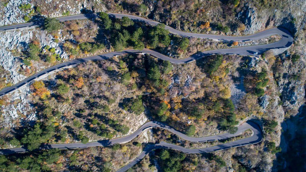 Дорога на гору Ловчен Черногория