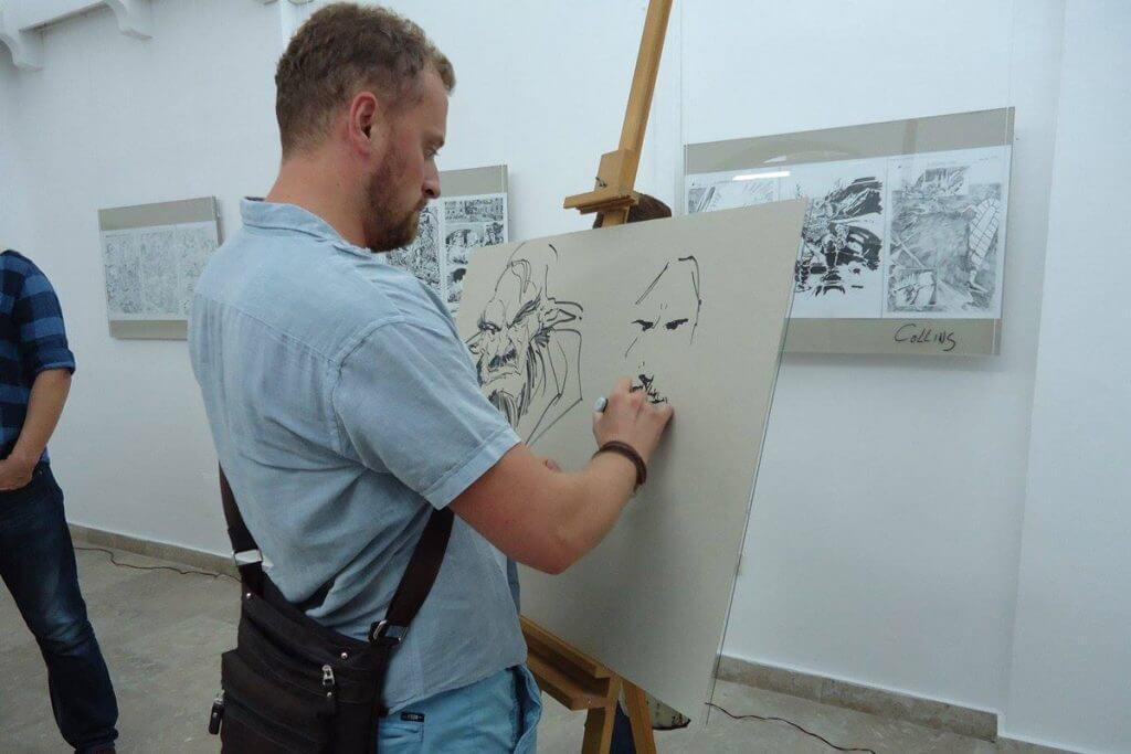 создание комиксов на фестивале в Херцег-Нови