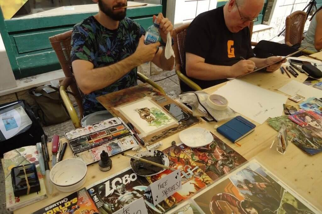 работы участников фестиваля комиксов в Херцег-Нови