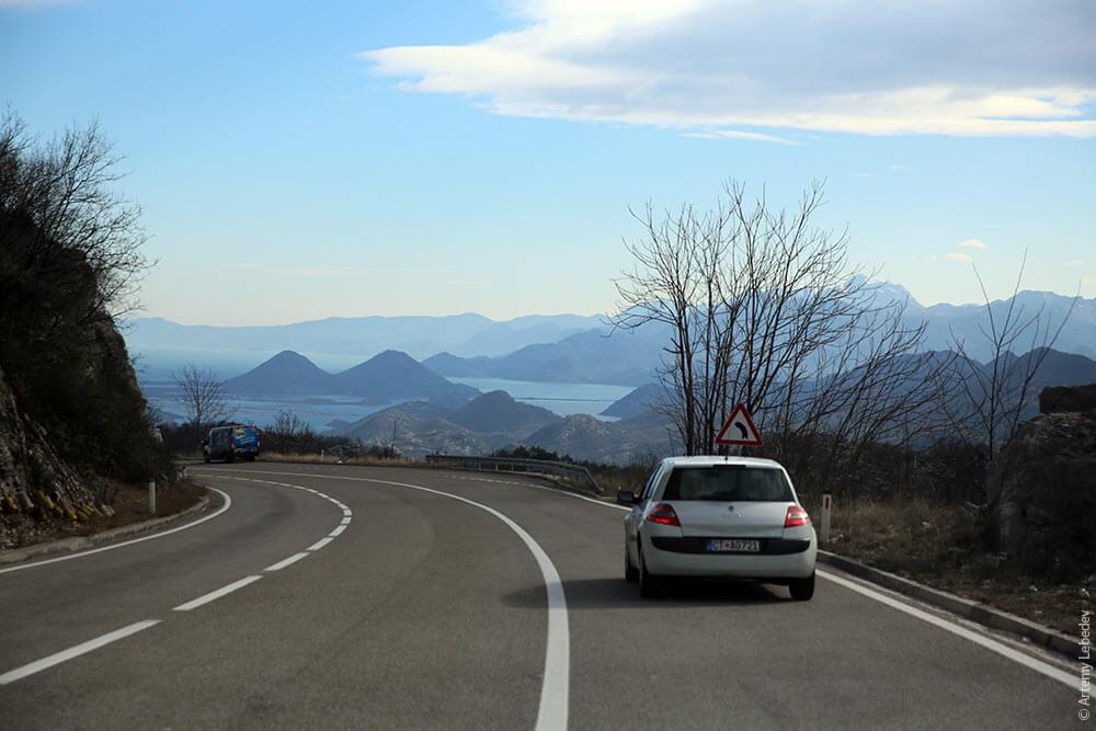 дорога в Подгорицу
