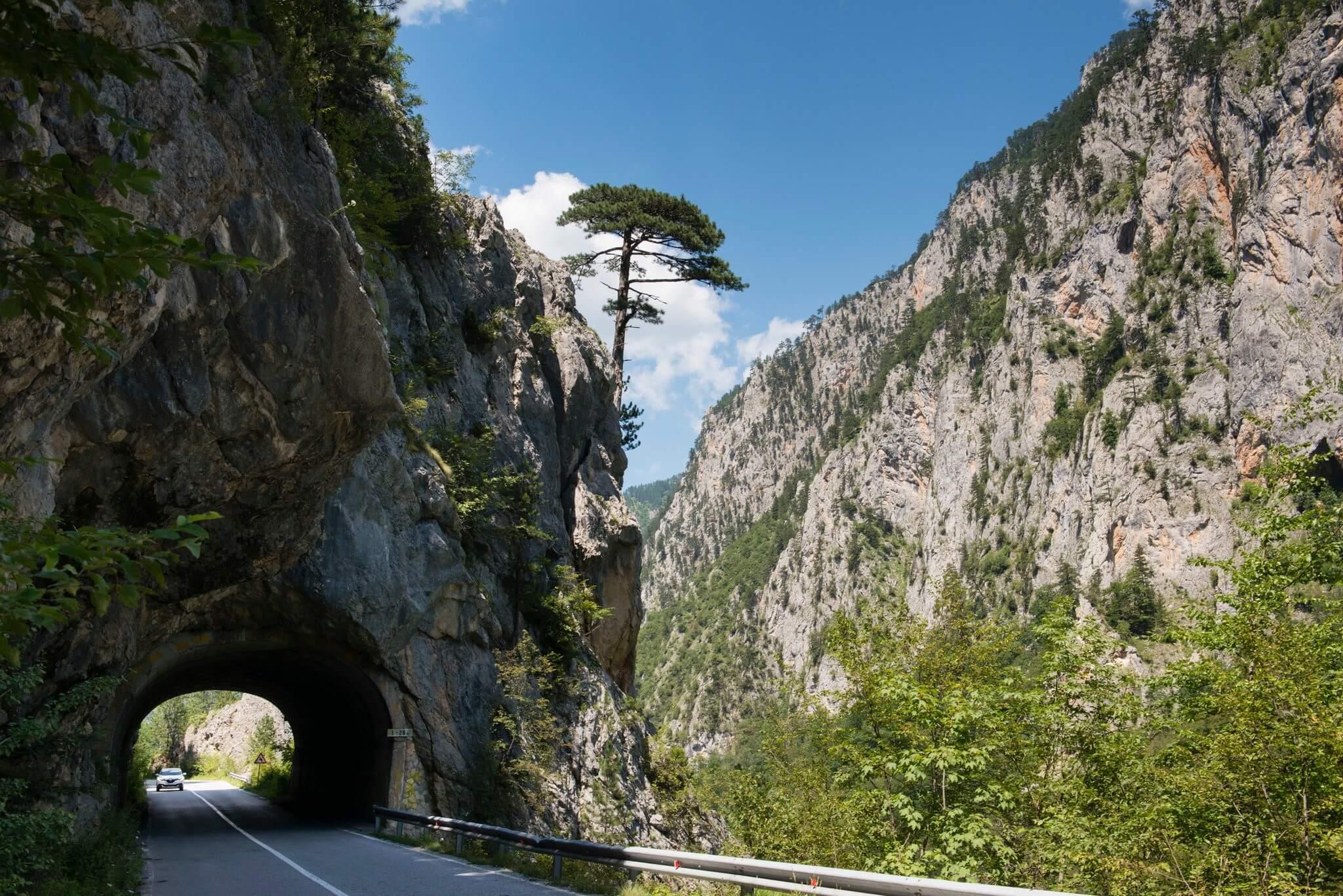 дорога вдоль Каньона Морака Черногория