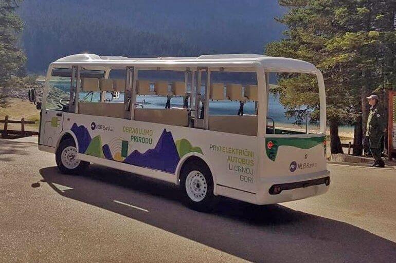 первый электроавтобус в Черногории