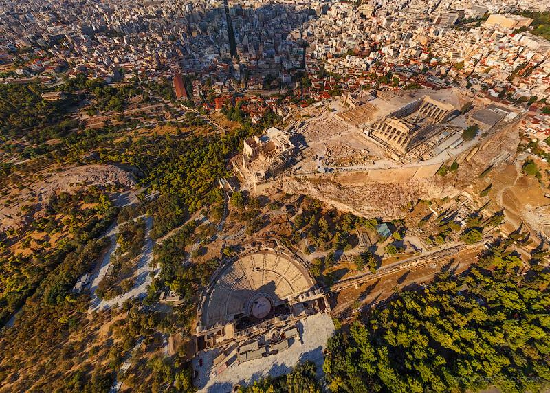 Греция Акрополь вид сверху