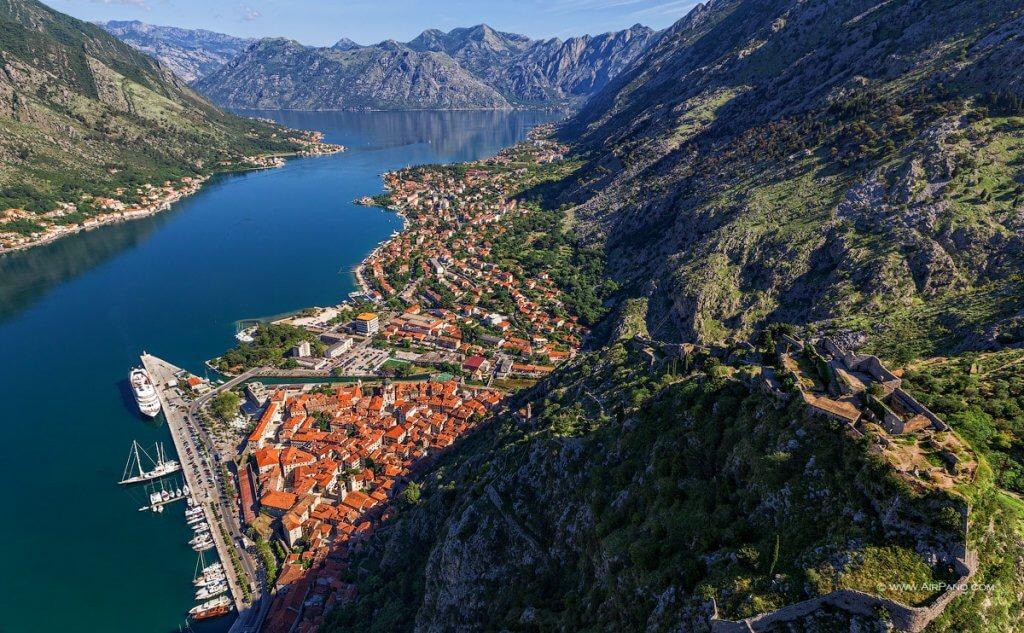 Котор Черногория вид сверху