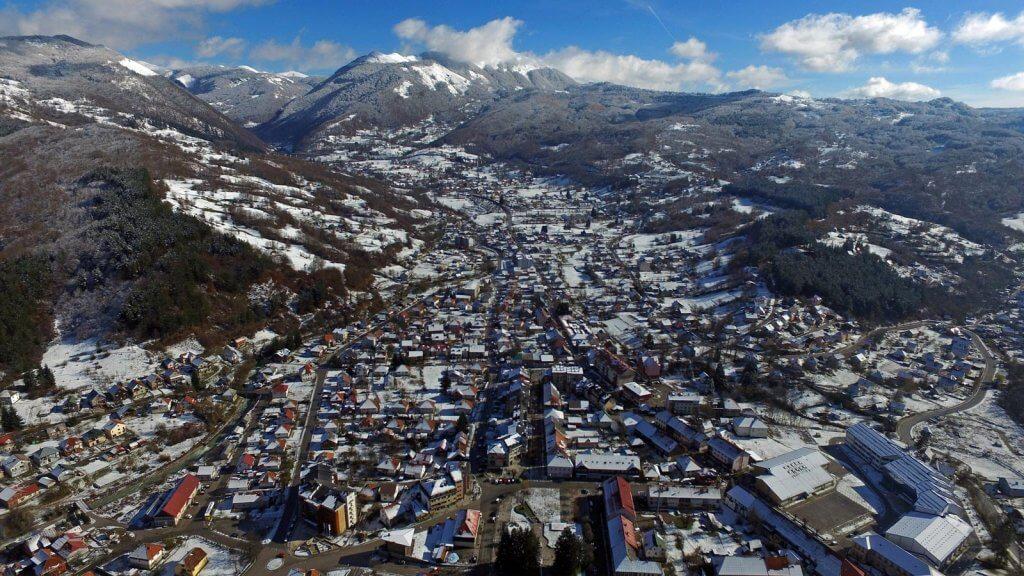Колашин Черногория вид сверху