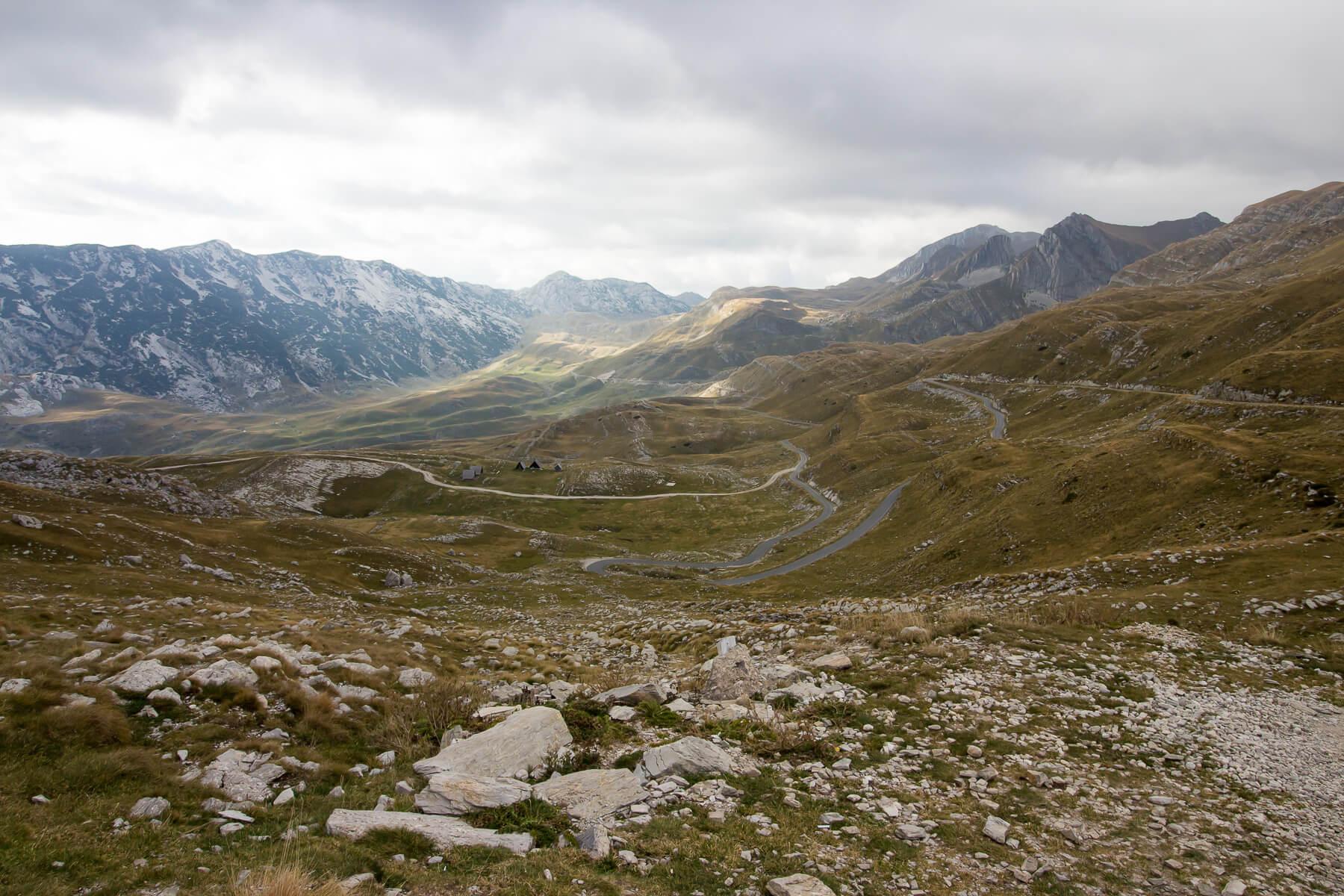 серпантины Черногории