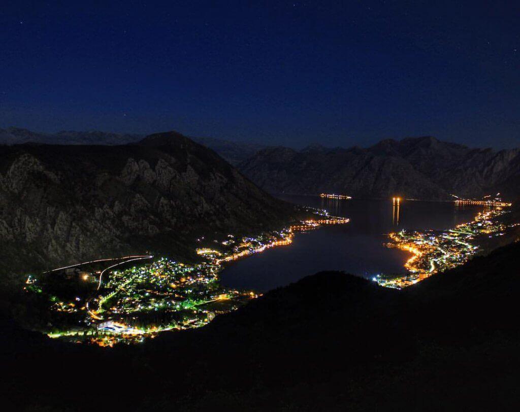 ночной Котор Черногория