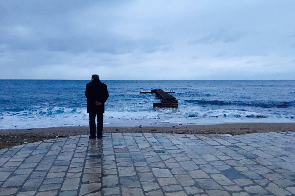 зимнее море Черногория