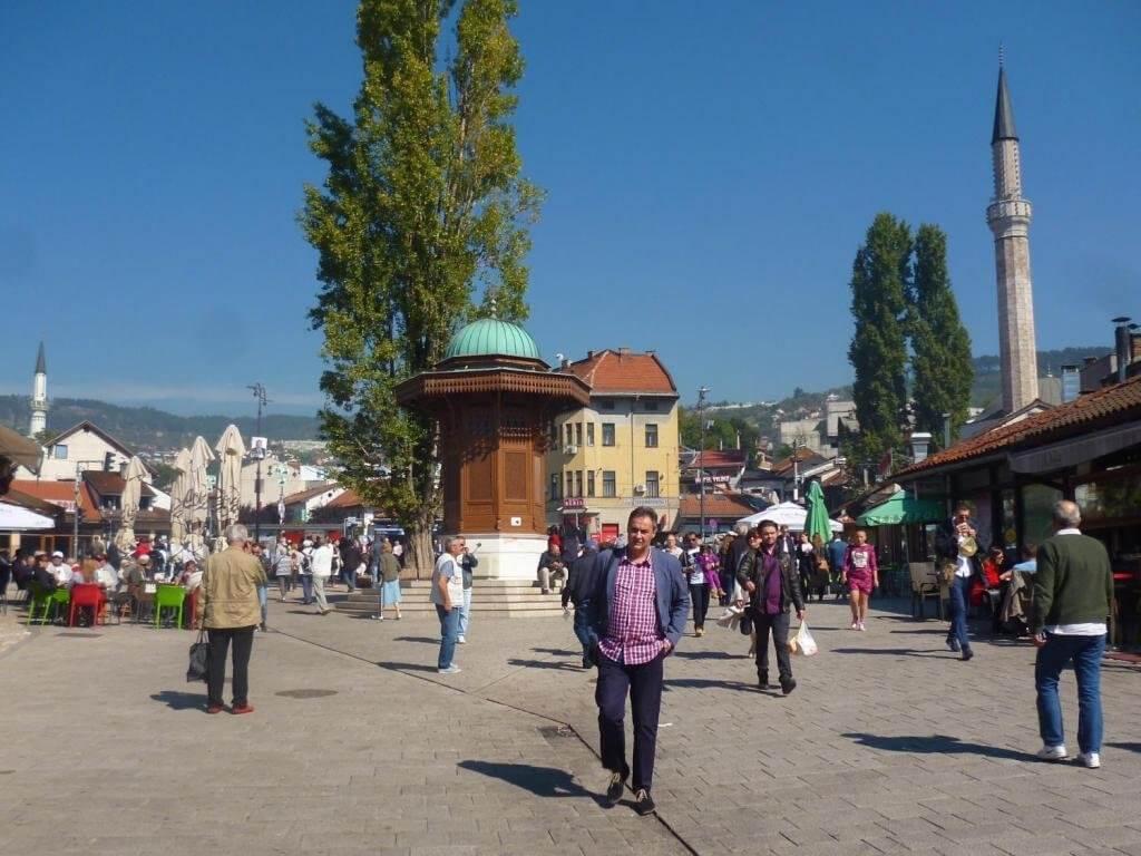 Площадь и замок Башчаршия в Сараево