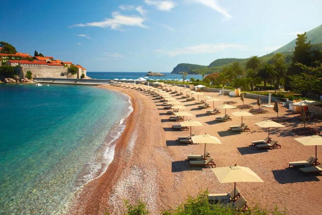 черногорские пляжи