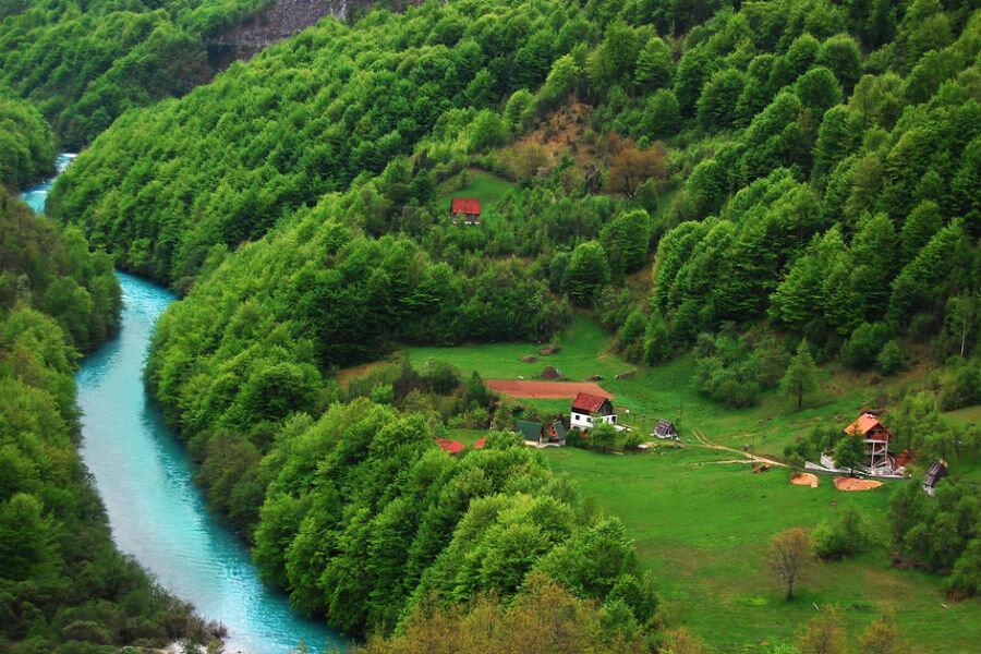 пейзажи каеьона реки Тара