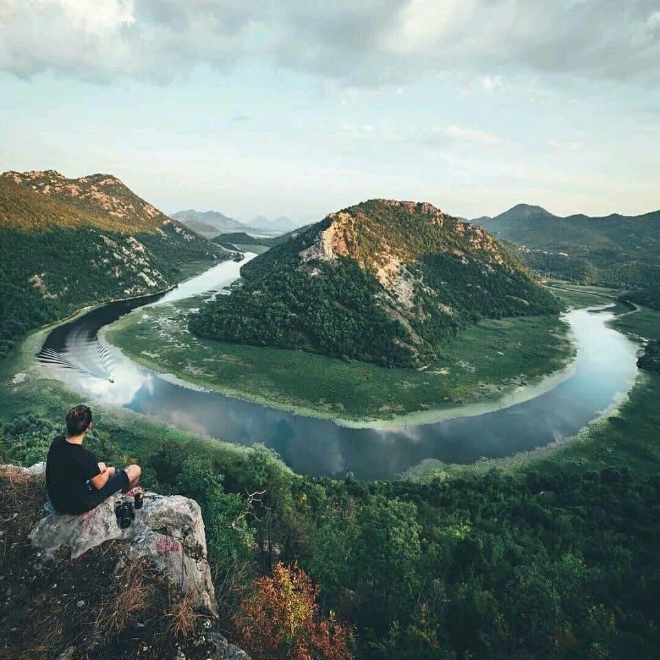 Вид со смотровой площадки Скадарского озера