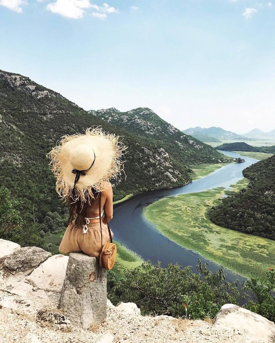 Фото со смотровой площадки Скадарского озера