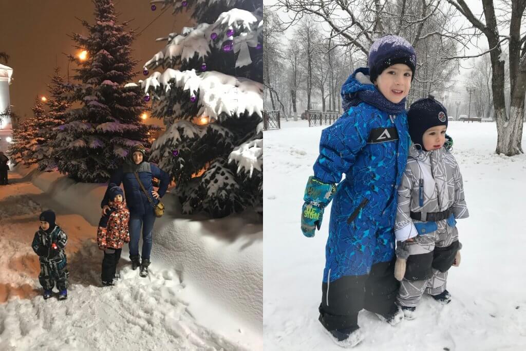 зима с детьми в Черногории