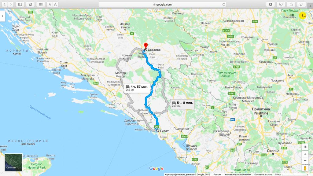 Как добраться в Боснию и Герцеговину из Черногории