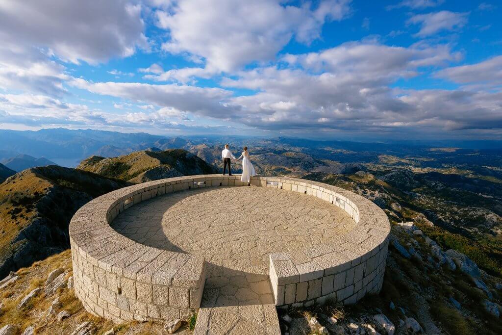 свадебные фото в парках Черногории