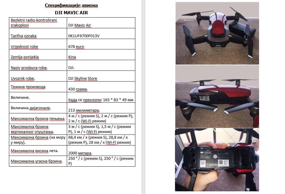информация о дроне