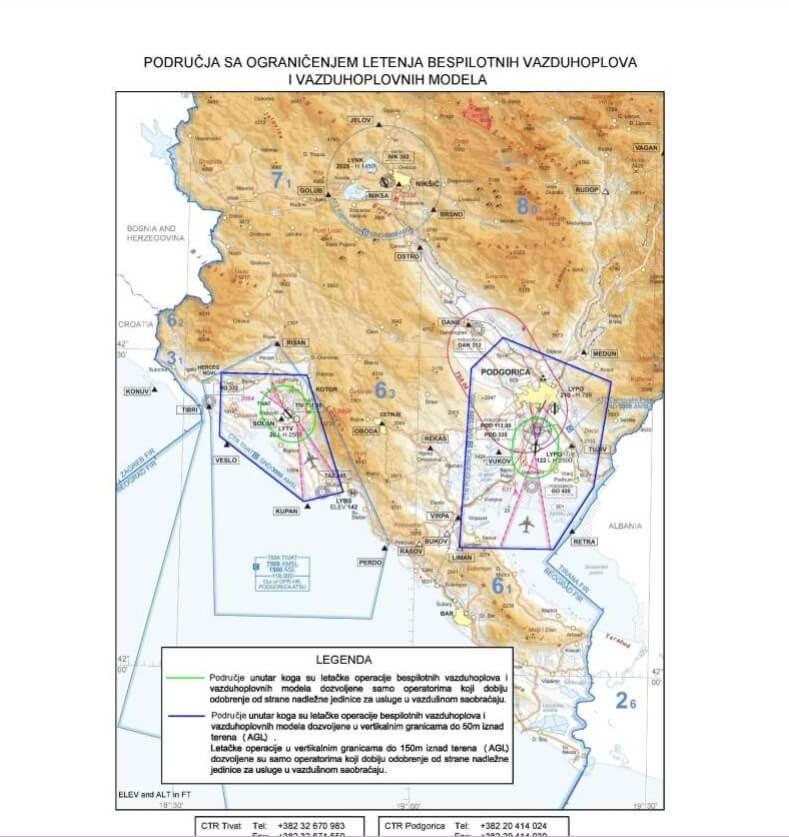 документы на управление квадрокоптером в Черногории