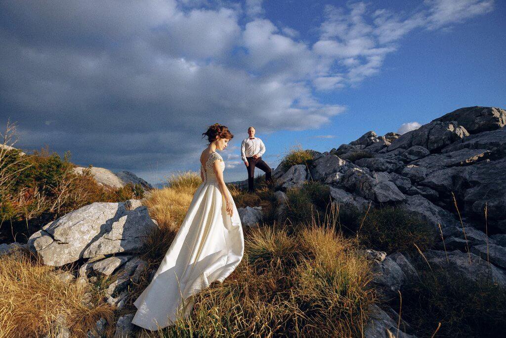 свадебные фотографии с Бока-Которской бухты
