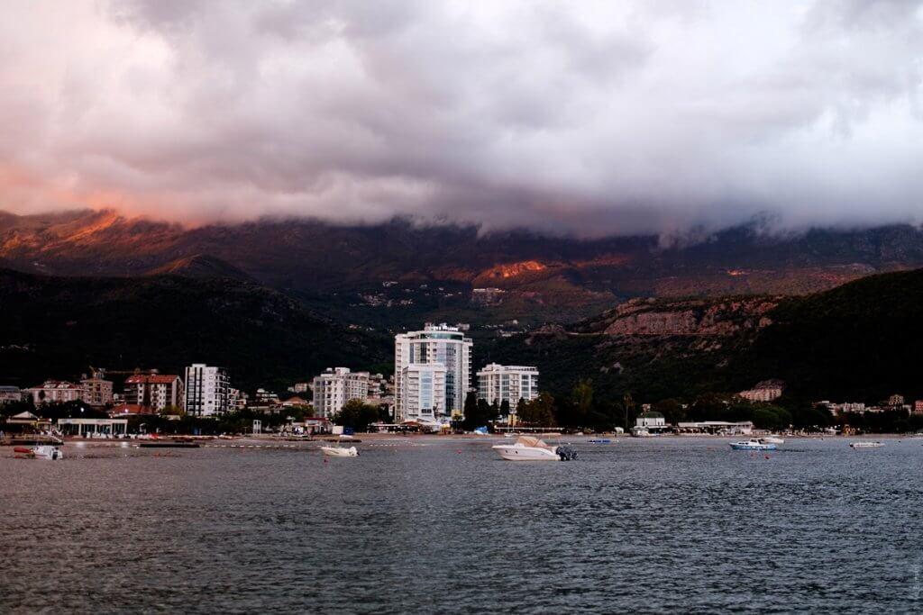 вид с моря Черногория