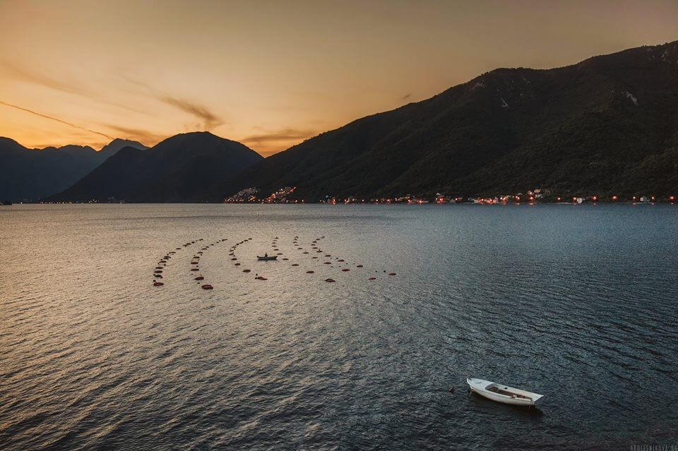 фото с берега Черногория