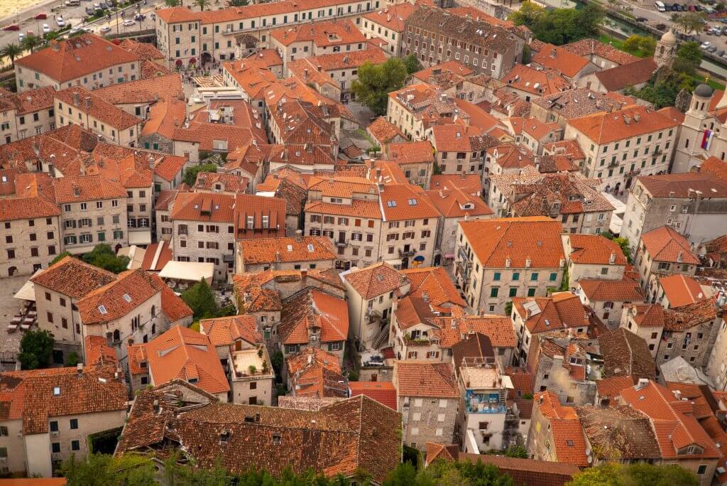 Подгорица Черногория фото с дрона