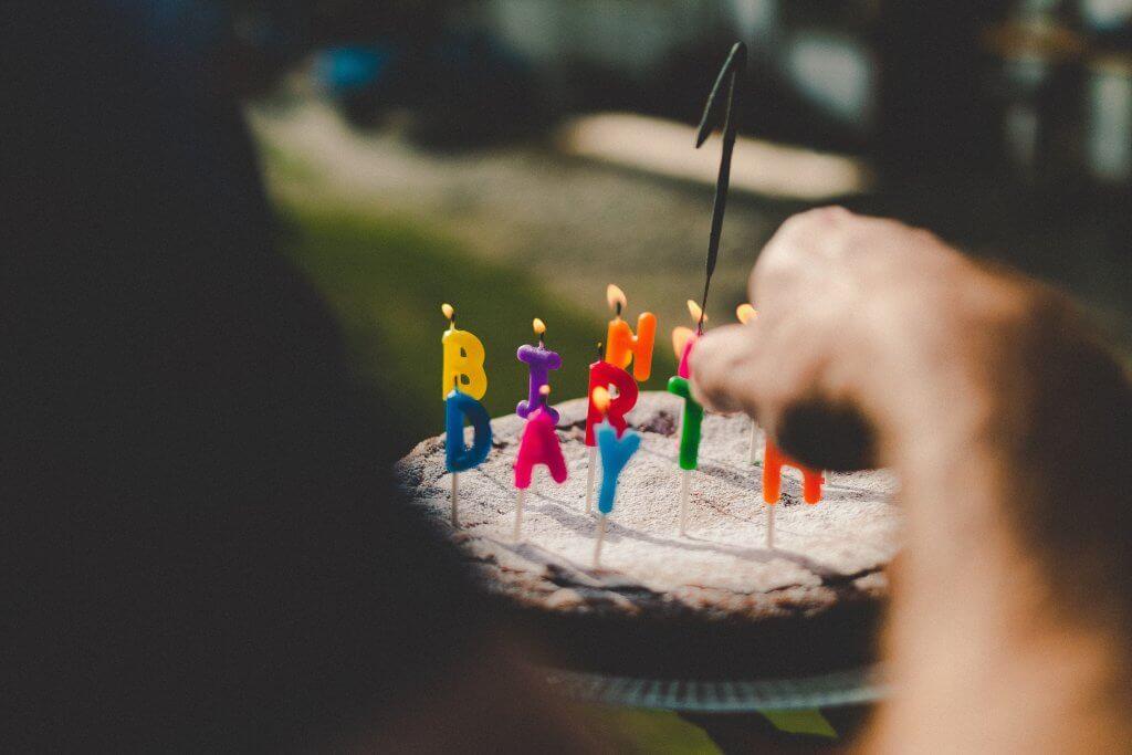 свечи с днём рождения