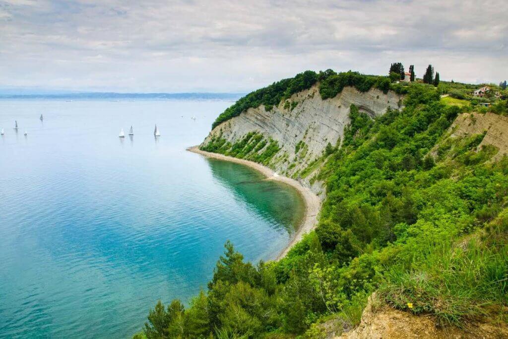 Словения Mesecev zaliv (Moon Bay) — Strunjan