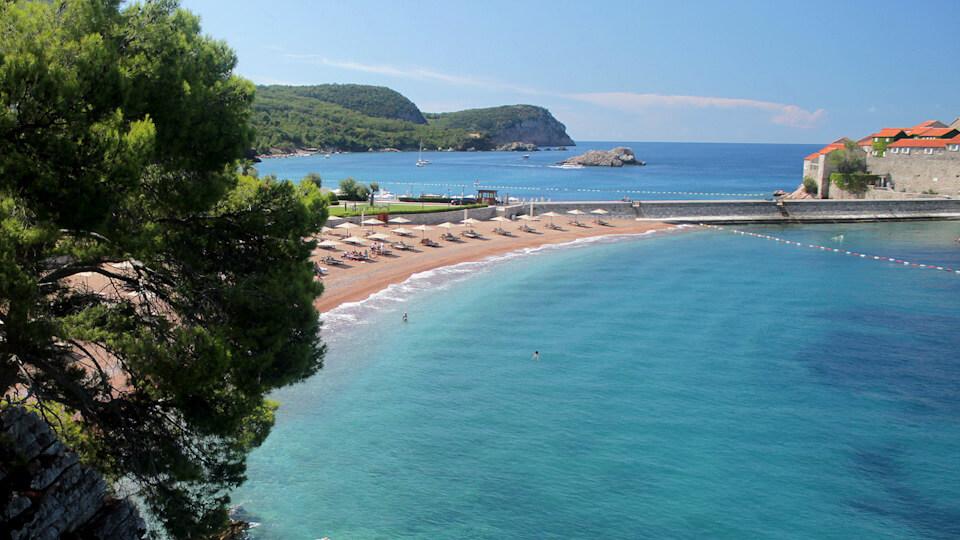 Пляж Свети-Стефан