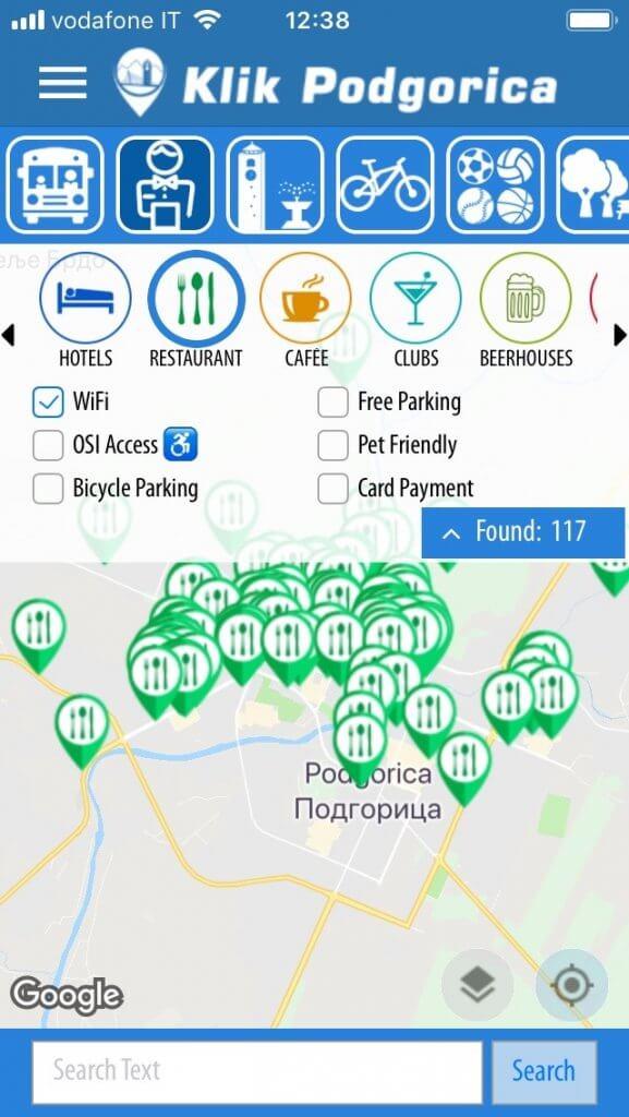 Рестораны в вай фаем Подгорица