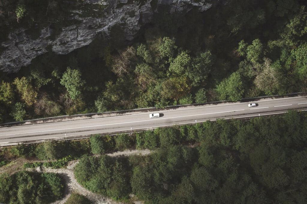 дороги Черногории вид сверху