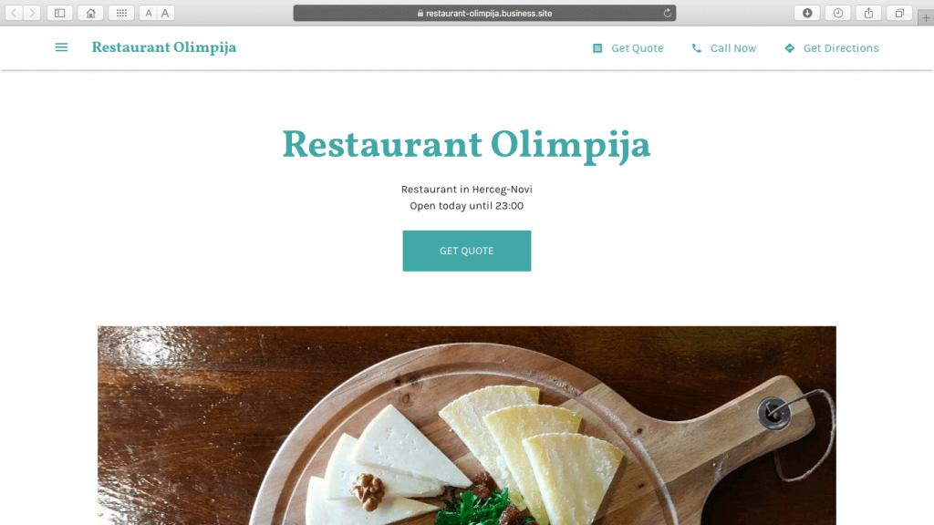 Restaurant Olimpija