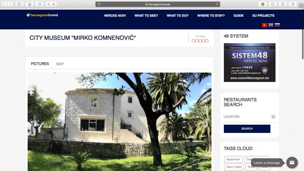 Музей Мирко Комненовича (Краеведческий музей Херцег-Нови)