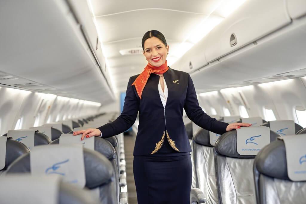 салон самолётов Montenegro Airlines